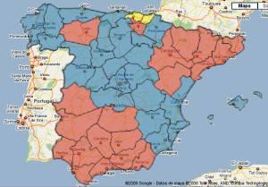 Mapa de voto elecciones 2.004